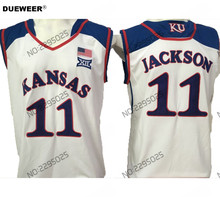 7acd13bfe ... wholesale authentic jersey white dueweer mens throwback kansas jayhawks  josh jackson college basketball jersey white 11