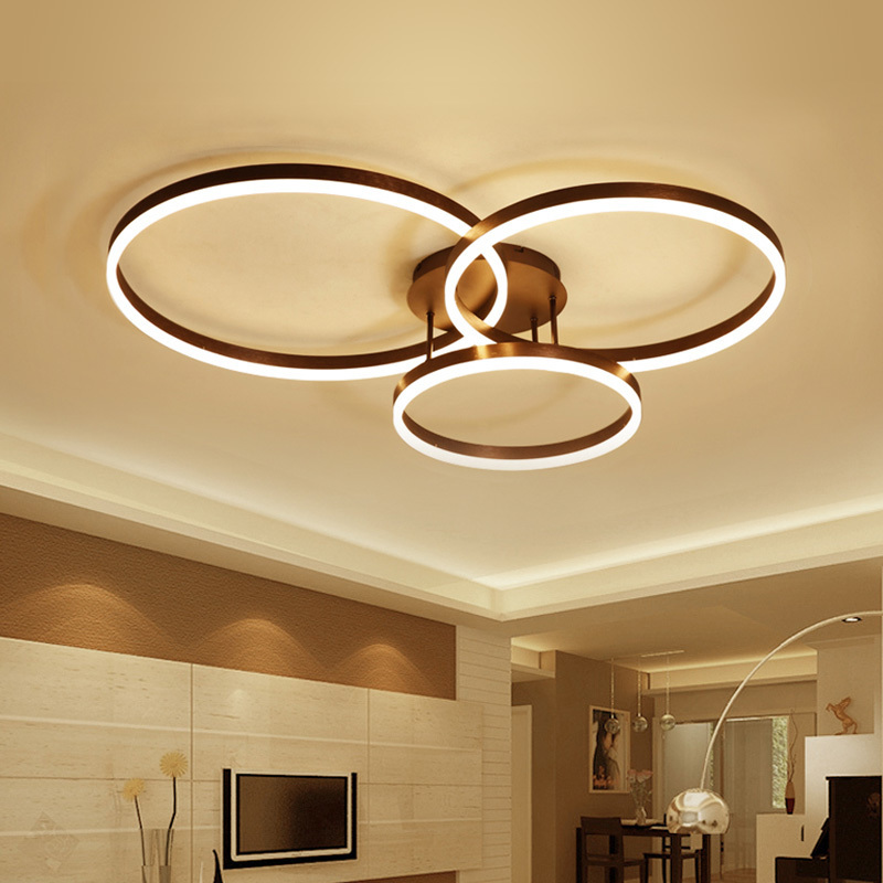 Modern LED Ceiling Lights For Living Room Kitchen Fixtures Dimmable Remote Dining Home Lamp Plafon Verlichting Luminaria Teto led luminaria teto hot sell 1 pcs lot dimmable
