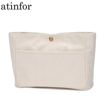 atinfor Brand Eco Cotton Canvas Cosmetic Bags Insert Handbag