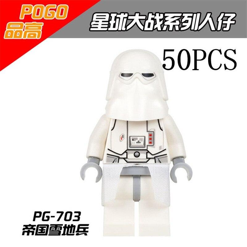 Star Wars First Order Heavy Gunner Stormtroopers Lepin  Pogo Wholesales  50PCS Building Blocks Bricks Compatible legoe Toys лонгслив printio first order star wars