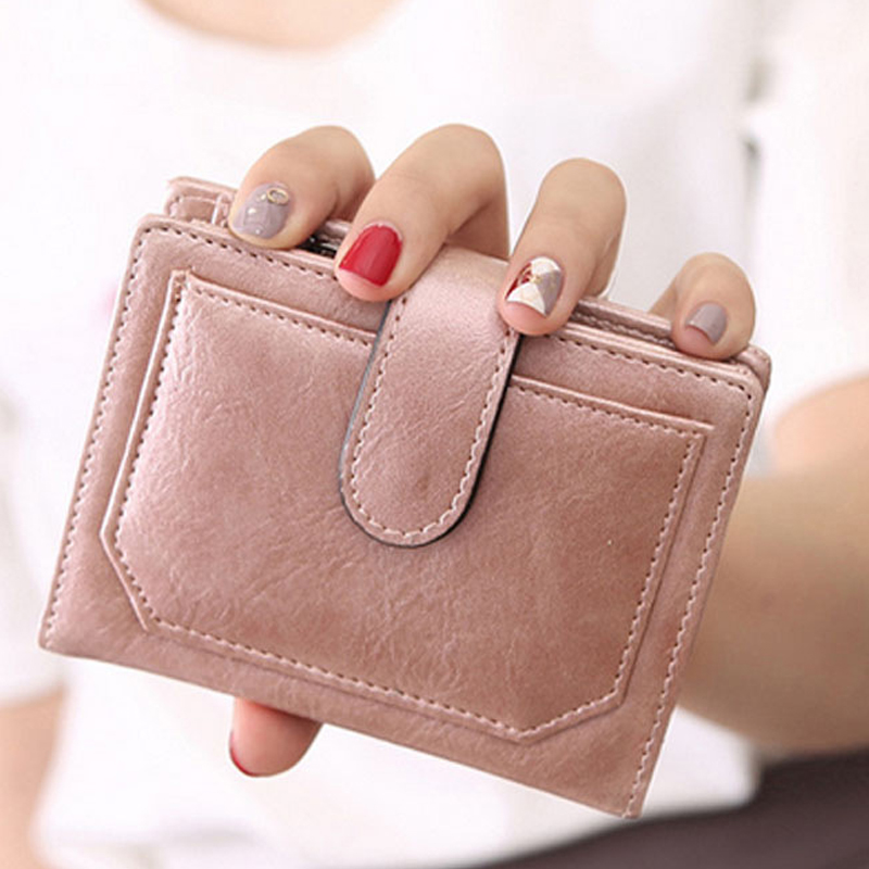 Clutch Wallets Womens Leather Carteras Feminina Mujer Coin Pocket Card Holder Cash Purse Female Small Bag 2017 Hot Sale young people young people all at once
