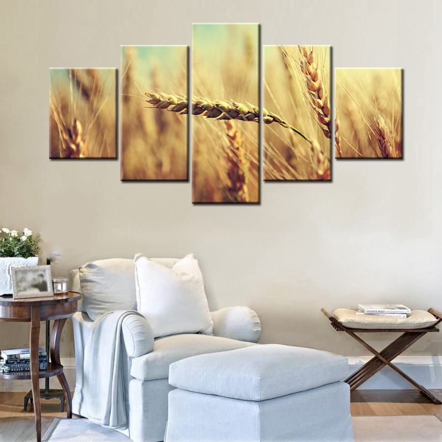 Great Charming Ripe Wheat Green Wheat Painting Print Canvas Modular Wall Art Home  Decor Artwork For Room Decoration Fashion Gift In Painting U0026 Calligraphy  From ...