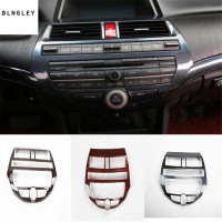 1pc ABS carbon fiber grain or wooden grain Central control panel decoration cover for 2008 2012 HONDA Accord MK8