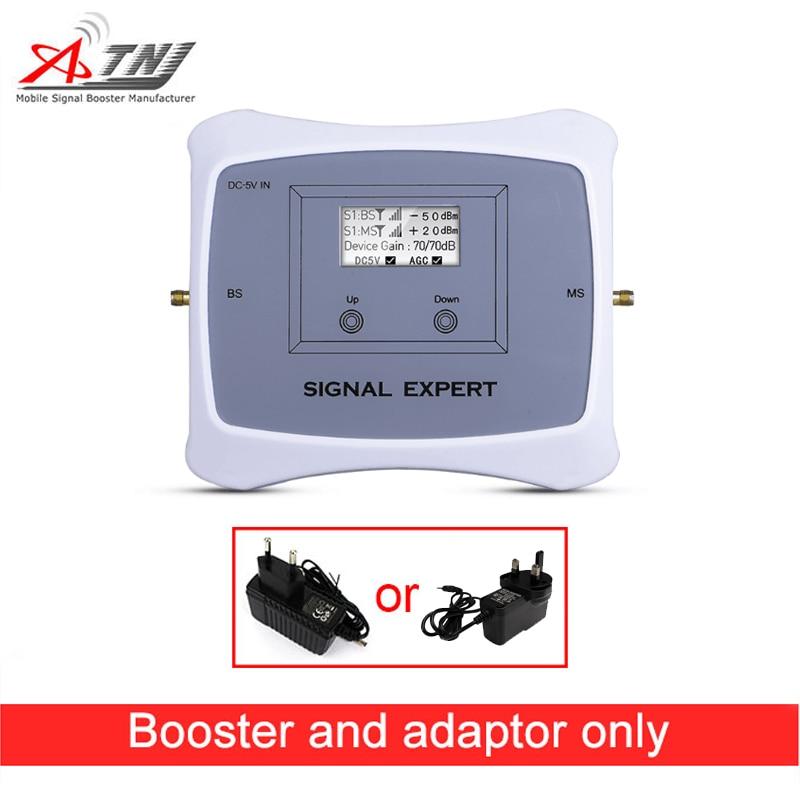 Offre spéciale! Répéteur de signal double bande 900/2100 MHz 2G 3G booster réseau uniquement + adaptateur