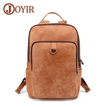 JOYIR New Design Men Genuine Leather Backpack Cowhide Brown Mens Retro Male High Quality Fashion