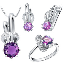 Plated NEW suit 925 Sterling Silver custom made pendant ear ring mini set small rabbit