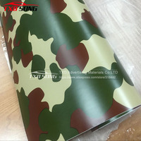 Wholesale 1.52*30M(5FTX98FT)/Roll Forest Camouflage Vinyl film with air free bubbles Camouflage car sticker for car decoration