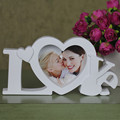 "Pure Love Photo Frame White Heart  Shape  With One Picture 4x4"" For New Baby And Sweet Lover Gift"