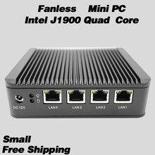 328 Без Ventilateur Mini PC J1900 Quad Core 4 Intel Gigabit Lan WG82583 Паре-Feu Multi-fonction Routeur usb 2.0*2