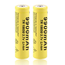 1/2/4/8/10/15/20 pcs 3.7V 9900mah 18650 Battery lithium batteria rechargeable battery for flashlight  Cells