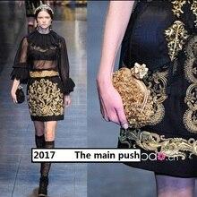 South Korean custom silk / silk cloth + / gold / a modern style luxury fashion fabric недорго, оригинальная цена