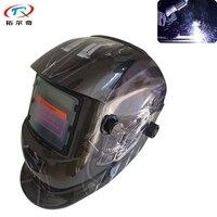 Siyah Terminator desen güneş kaynak kask bukalemun tam yüz kalkanı Tig Mig lehim maskesi otomatik kararan TRQ-HD50-2233DE