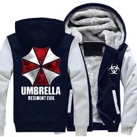 Game Movie Resident Evil Casual Thick Cotton Coat Umbrella Logo Hoodie Men Hoodies Zipper Hooded Men Sweatshirt Hoodies Men