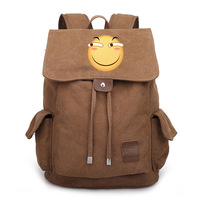 Japan Anime Funny Emoji Face Expression Bag Backpack Rucksack Travel Canvas Book School Men Women Boy