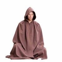 ZanYing медитация буддист плащ с капюшоном плюс размеры монах наряд ZYS47