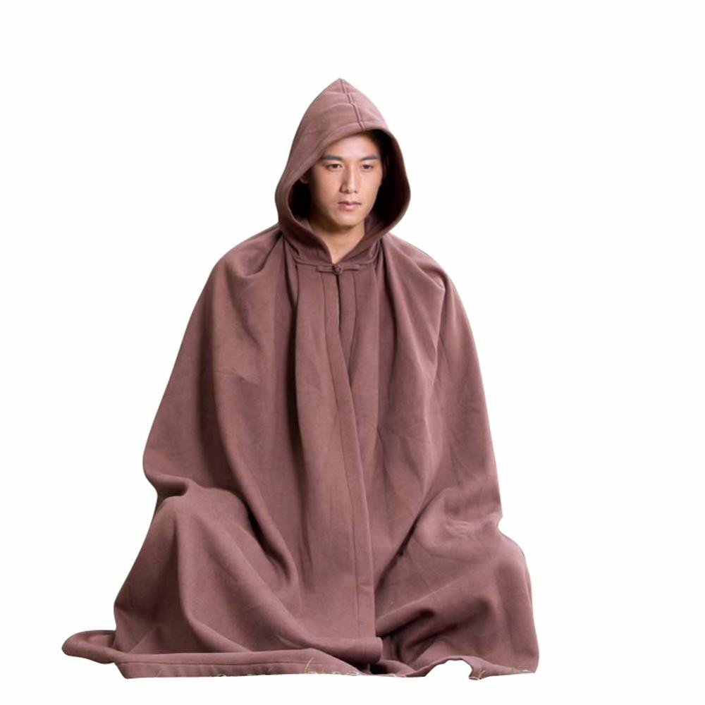 ZanYing Meditation Buddhist Hooded Cloak Plus Size Monk Outfit ZYS47