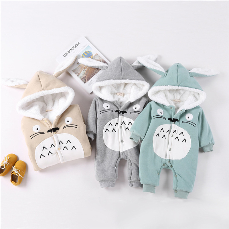 Godier 2017 New Winter Baby Hoodie Romper Baby Boy Girls Clothes Infant Animal Cartoon Jumpsuit Newborn Cute Outerwear Pajamas puseky 2017 infant romper baby boys girls jumpsuit newborn bebe clothing hooded toddler baby clothes cute panda romper costumes