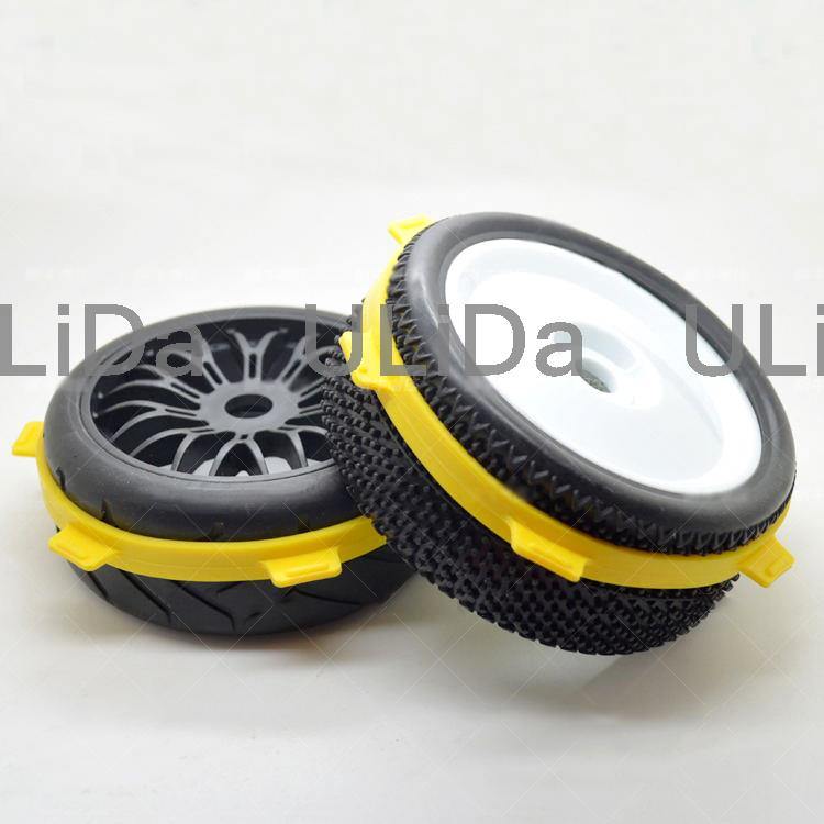 2 Pcs Tire Mounting Band For 1/8 Buggy & 1/10 Short RC Car Tyre Wheel Glue Assist