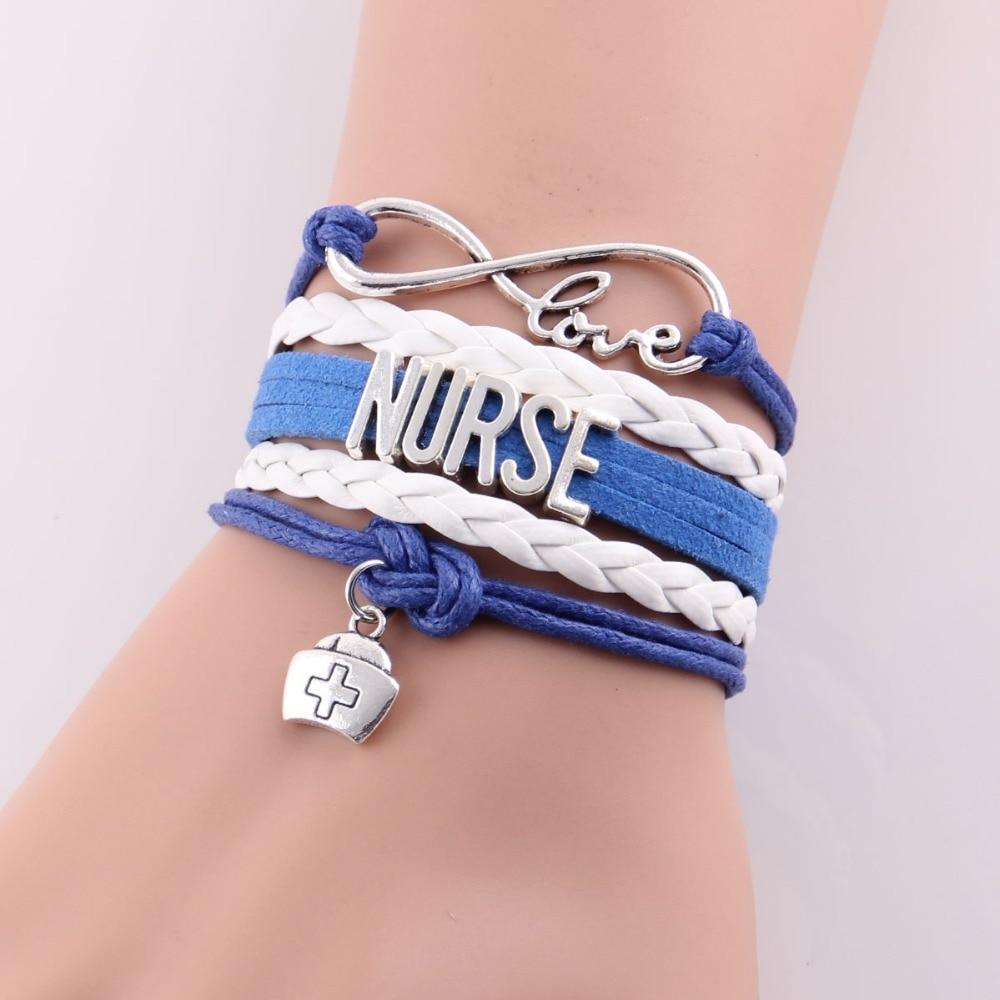 Little Minglou nieskończoność miłość bransoletka pielęgniarka - Modna biżuteria - Zdjęcie 2