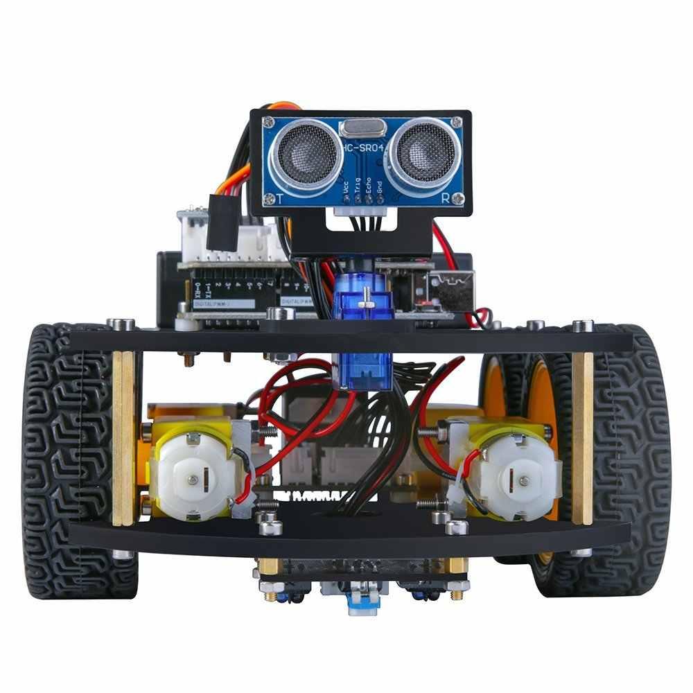 -Набор для проекта UNO умный робот автомобильный комплект с Уно R3, ультразвуковой Сенсор, модуль Bluetooth, и т. д. развивающая игрушка автомобиль для Arduino (в том числе компакт-дисков)