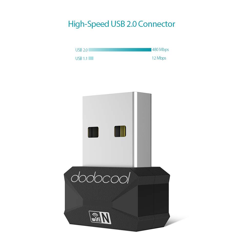Dodocool N150 Mini Wireless Network Card USB 2.0 WIFI Adapter Dongle 2.4 GHz 150 Mbps For MacBook Air Pro Laptop PC Computer