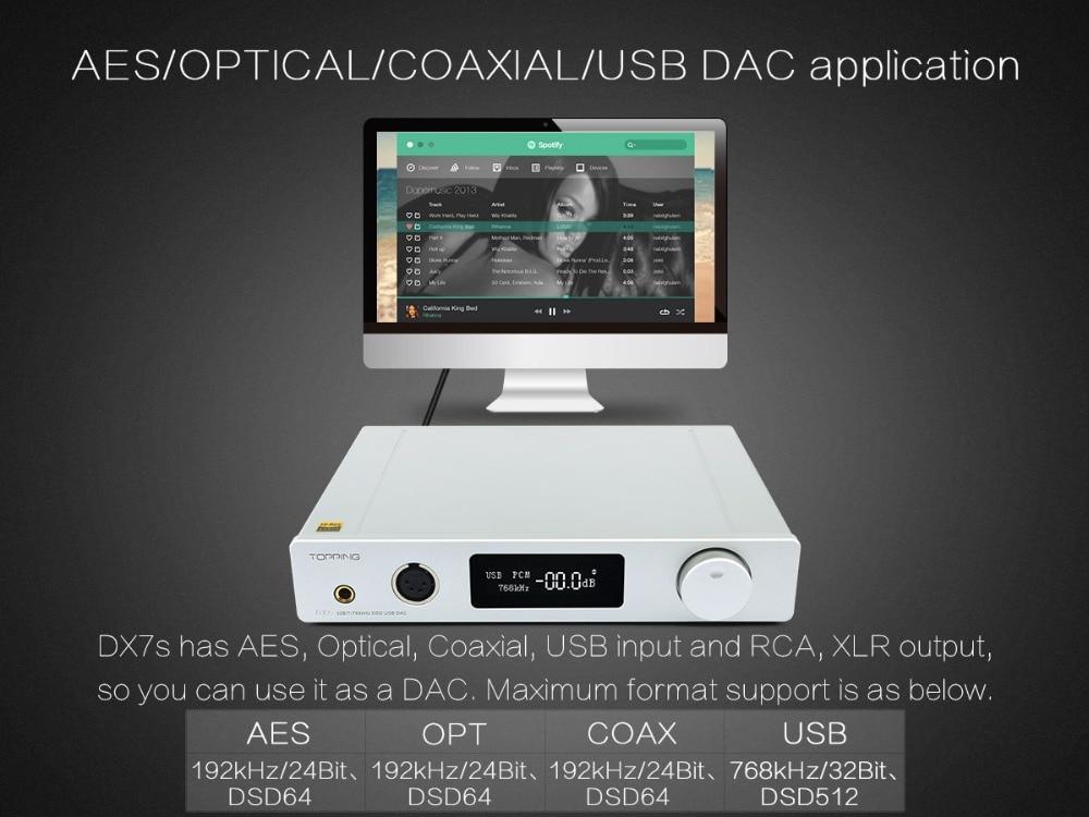 TOPPING DX7s 32Bit/768K DSD512 Full balanced USB DAC Amplifier-08