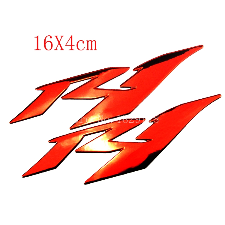 Red Motorcycle 3D R1 Stickers Moto Bike Emblems Decorated Decals Sticker case for Yamaha YZF R1