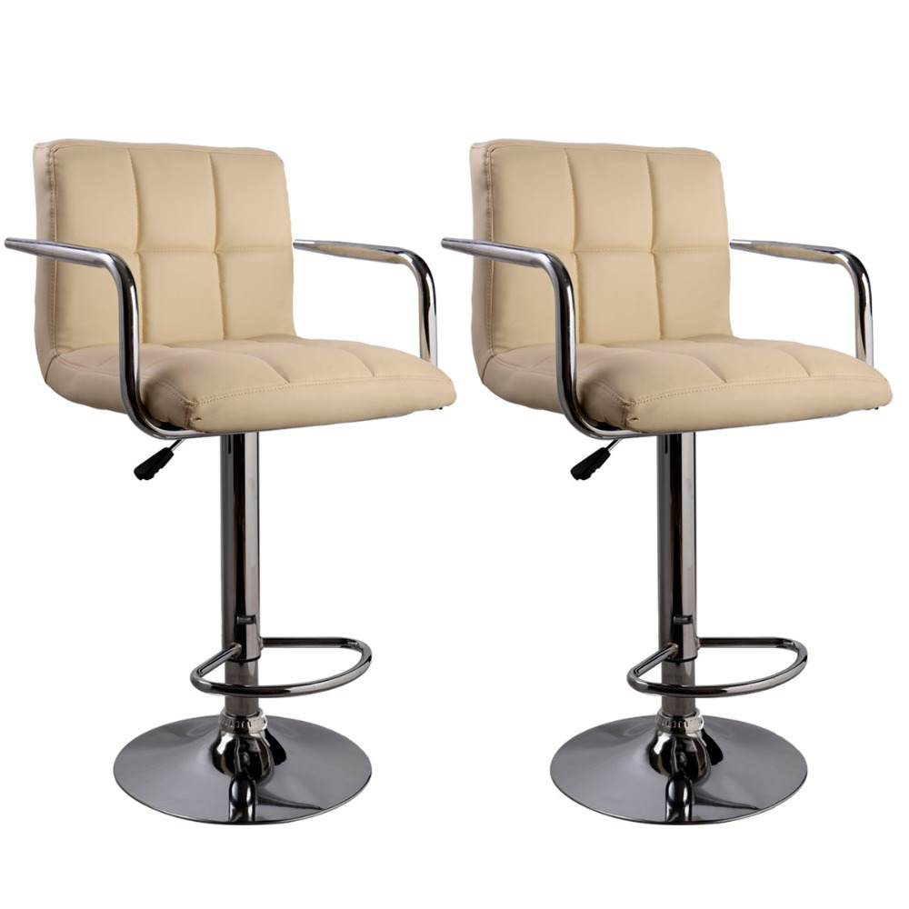 2 PC High quality Swivel Office Furniture Computer Desk Office Chair in PU Leather Chair bar stool New  HW50133-2OW 240311 high quality pu leather computer chair stereo thicker cushion household office chair steel handrails