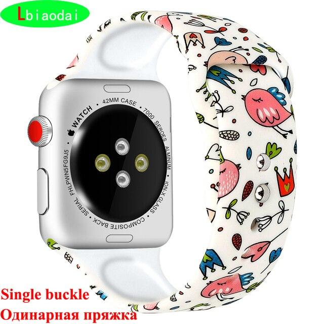 Ремешок для apple watch band correa apple watch 4 3 38 мм 42 мм iwatch band 44 мм 40 мм спортивный силиконовый браслет ремень reloj аксессуары