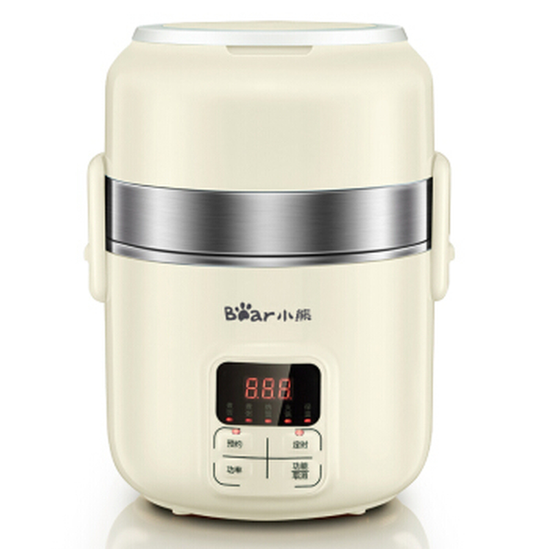 Bear 2L Electric Lunch Box Intelligent Appointment Timing Three-layer Heat Preservation Cooking Rice Cooker bear electric lunch box portable vacuum three layer automatic insulation heating cooking stainless steel rice cooker