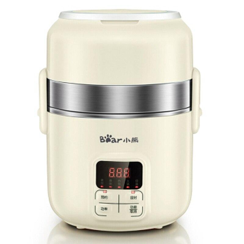 Bear 2L Электрический Ланч бокс интеллектуальное назначение синхронизации трехслойная сохранение тепла приготовления рисоварка