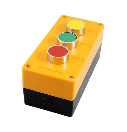 Red Green Yellow Round Cap Pushbutton Push Button Switch Station AC 240V 400V  цена и фото