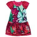 Catimini платье принцессы летом 2014 девочка печать ребенок с коротким рукавом французский платье новое дизайном платье девушка