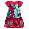 catimini  dress princess summer 2014 baby girl print  child short sleeve french dress brand new design dress girl