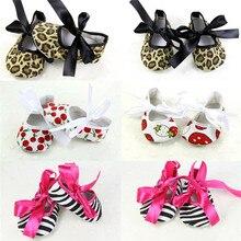Newborn Baby Girl Bowknot Shoes Cloth Soft Sole Anti-slip Pr
