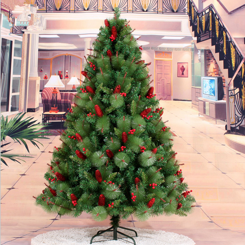 Red Red Pine Christmas Tree: Christmas Gifts Christmas New Year 1.8 M / 180cm Red