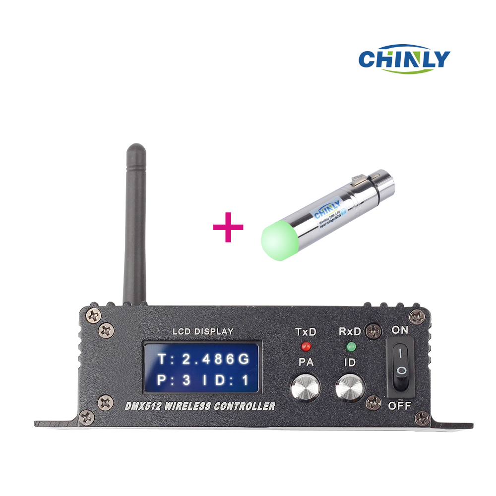 DMX512 126 Channels Wireless Receiver & Transmitter 2.4G ISM LED Lighting for Stage Effect PAR Party Light 400m control dhl free shipping dmx512 wireless transmitter and receiver antenna socket for stage lighting