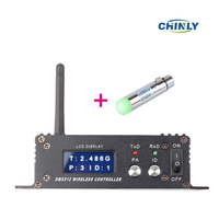 DMX512 126 Channels Wireless Receiver & Transmitter 2.4G ISM LED Lighting for Stage Effect PAR Party Light 400m control