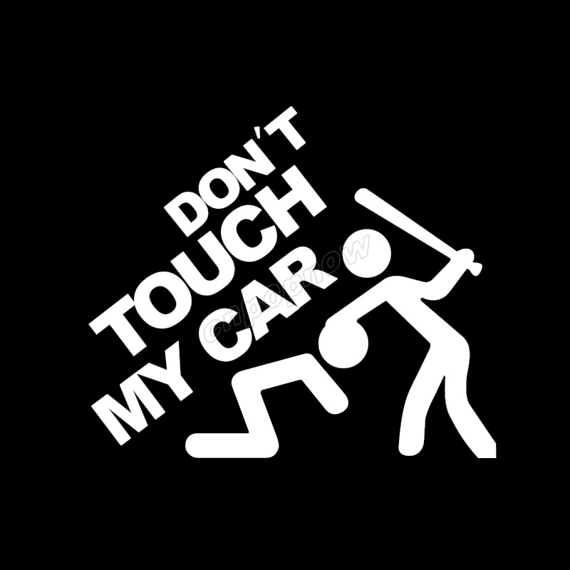 19x22cm Logo For Dont Touch My Car Symbol Funny Body Rear Window