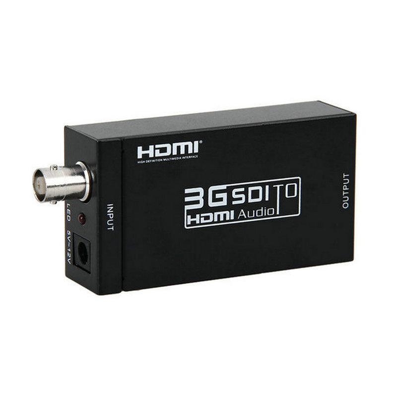10PCS/lot MINI 3G HD 1080P SDI to HDMI Converter SDI/HD-SDI/3G-SDI BNC to HDMI Converter Adaptor lkv364 sdi to bnc repeater 1080p 720p sd sdi hd sdi 3g sdi distribute to 2 simultaneous sdi outputs sdi converter splitter