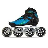 100% Original Bont Semi Race 2PT 195MM 3PF/2PF 6061 PACKAGE Speed Inline Skates Heatmoldable Carbon Fiber Boot G15 Wheel Patines