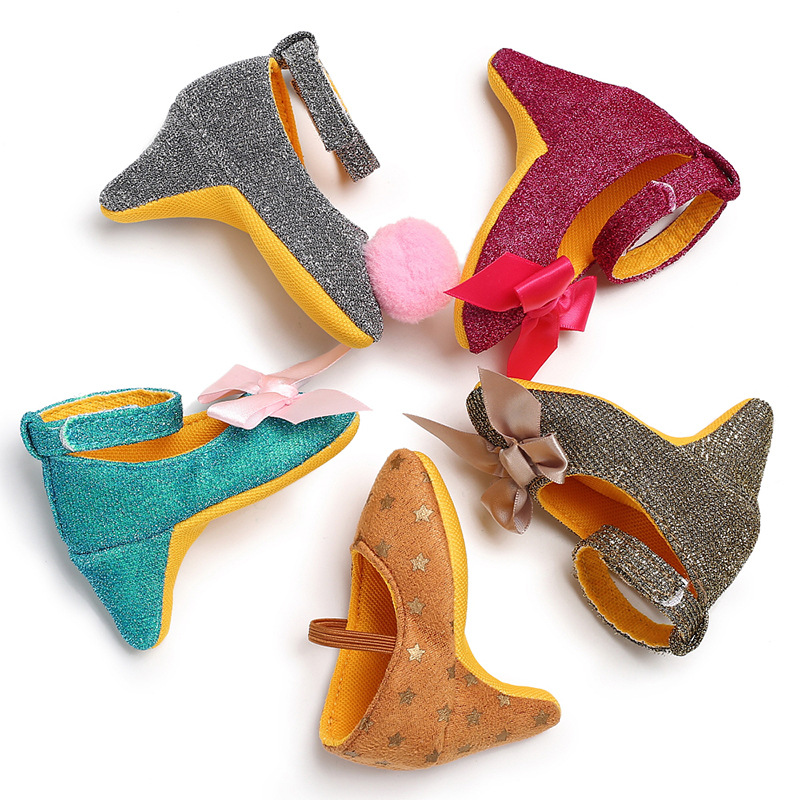Fashion Newborn Baby Girls Shoes High Heels Cute Baby Booties Cute Baby Girl Shoes Photo Props Headbands Fashion Baby Accessorie