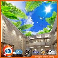 Домашний декор материал Dightal печати УФ печатных подвесного потолка натяжной потолок ПВХ ткани