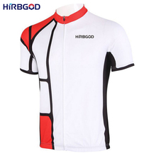 HIRBGOD 2016 brand mens retro plaid bike clothes short sleeve man red black team sport cycling jersey mtb bicycle clothing,NM421