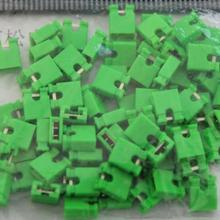 100pcs/lot Short block jumper cap green short block 2.54 connecting block 100 electronics