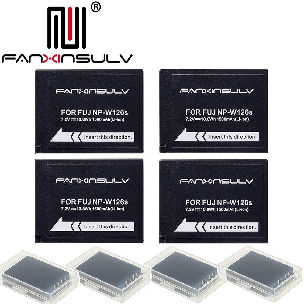 4x NP-W126 NP W126S Battery + 4 Battery box for Fujifilm Fuji XT3 XA5 XT20 XT2 XT1 XH1 XT10 XE3 X100F SHIP WITH TRACKING NUMBER4x NP-W126 NP W126S Battery + 4 Battery box for Fujifilm Fuji XT3 XA5 XT20 XT2 XT1 XH1 XT10 XE3 X100F SHIP WITH TRACKING NUMBER