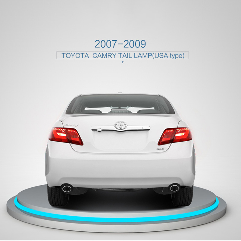 2007-2009 USA Cars Type LED Tail lights for Toyota Camry Car Lights Assembly Ensure quality and fitment Brake lights