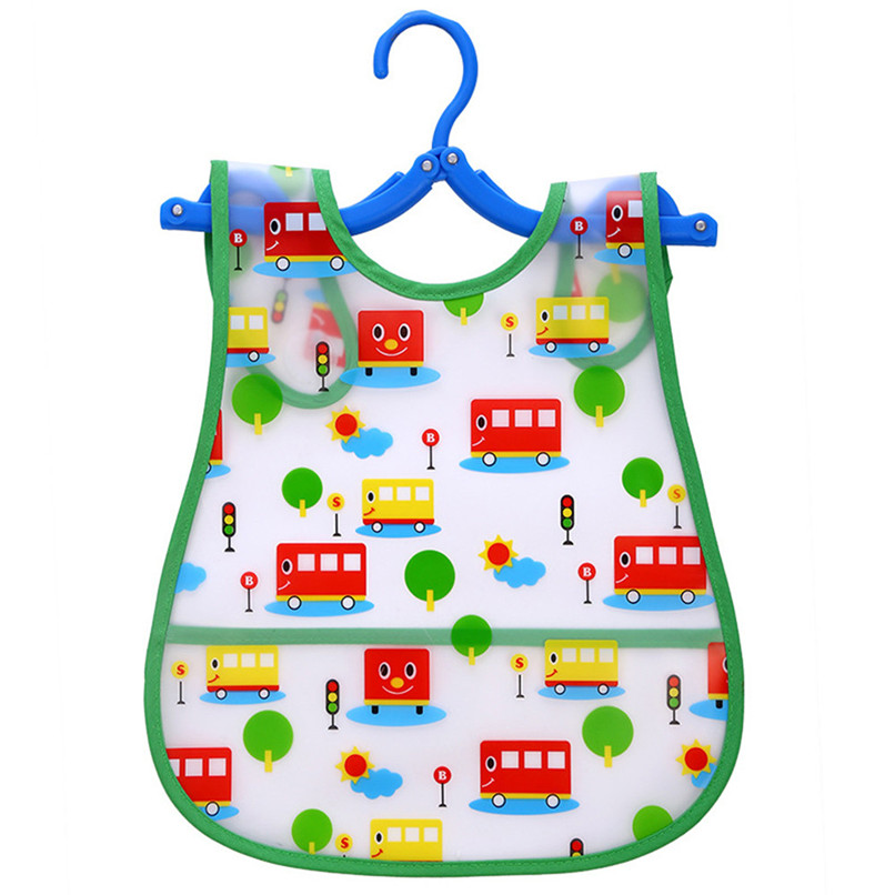 Adjustable Baby Bibs EVA Plastic Waterproof Lunch Feeding Bibs Baby Cartoon Feeding Cloth Children Baby Apron Babador de bebe (27)