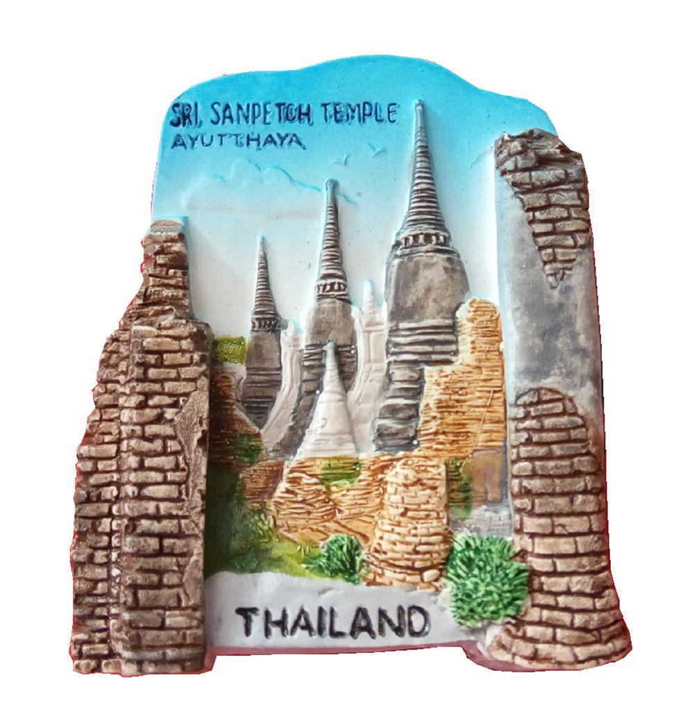 ᗑAyutthaya, Tailandia aromaterapia pintada a mano 3D Imanes de ...
