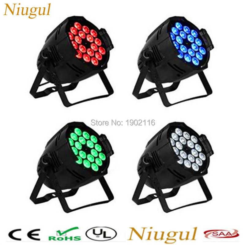 4pcs/lot 18X15W 5IN1 LED Par light 5in1 RGBWA DMX512 control professional stage equipment disco dj lights LED PAR Strobe lamp